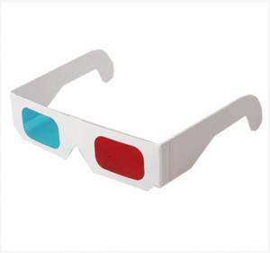 China Customizable durable lovely kids Paper Red Cyan 3D eye Glasses for 3D projector on sale