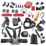40 acessórios in-1 empacotam para o herói 4 3+ 3 de Gopro 2 acessórios de 1 câmera de Sj4000 Sj5000 Sj6000 Xiaomi Yi ajustados