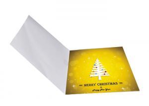 China Creative Handmade Recordable Greeting Card Sound Chips Brochure Custom Printing on sale