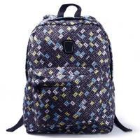 Flowery Shoulder Straps Nylon Backpack Bag Women School Backpacks