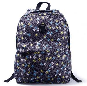 China Flowery Shoulder Straps Nylon Backpack Bag Women School Backpacks on sale