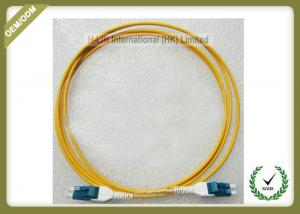 China Multimode Fiber Optic Patch Cord , Duplex Fiber Optic Cable With Low Insertion Loss on sale