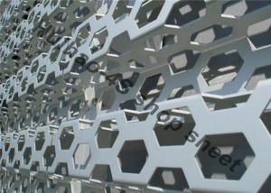 China AUDI 4S Shop Perforated Aluminum Sheet With Grey Color For Decoration Wall Panel on sale