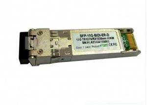 China 10Gb/S Fiber Optic Transceiver / SFP+ Bi-Directional Transceiver 40km With LC Connector on sale