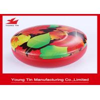 China CMYK Round Printed Metal Tin Containers Seamless With Fancy Tinplate Lids on sale