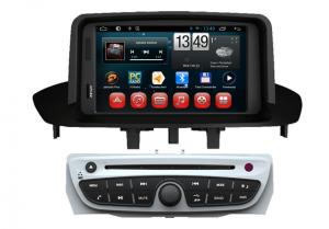 China Android 4.4 OS GPS Radio Tv Double Din Car DVD Player For Renault Megane 2014 on sale