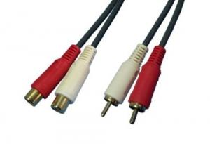 China RCA Cable 2 RCA Male To 2 RCA Female on sale