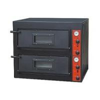 Black Painting Electric Pizza Baking Oven With 2 Layer 2 Tray 910x820x750mm