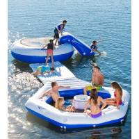 Fire Resistant Inflatable Water Floating Island , Inflatable Sports Games