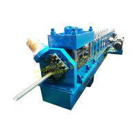 Steel Rolling Shutter Door Guide rail Roll Forming Machine 3 Phase With 3kw Motor Power