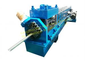 China Steel Rolling Shutter Door Guide rail Roll Forming Machine 3 Phase With 3kw Motor Power on sale
