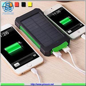 China Solar power bank 10000MAH high capacity with li-polymer battery on sale