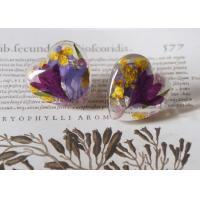 Best Seller Dancing Butterfly Heart Shape Purple Color Crystal Earrings 925 Silver For Sale