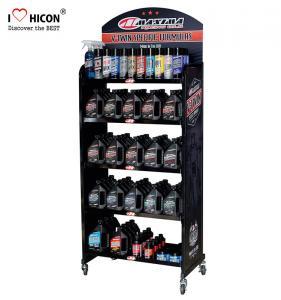 China Drive Sales Metal Display Racks Custom Lubricant Motor Engine Oil Display Rack on sale