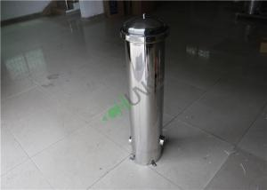 China Food Grade 304 316 Stainless Steel Filter Housing Water Purification Device on sale