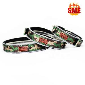 China Luxury Pattern Reflective Big 	Nylon Dog Collars Products Pet Accessories Custom Dog Collar on sale