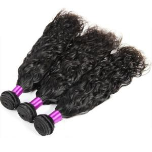 China Grade 8A Natural Wave Peruvian Hair Bundles , 100% Peruvian Curly Hair Weave on sale