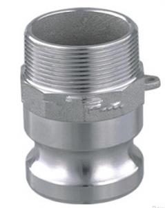 China Quick Disconnect Aluminium Camlock Coupling Fittings Type F Male Thread on sale
