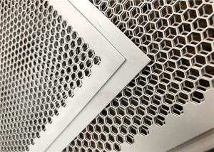 China Customized Perforated Metal Mesh , Perforated Corrugated Metal Round And Hexagonal Holes on sale