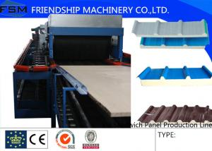 China 5 Ribs Covered 1000mm PU Sandwich Panel Production Line With Double-Belt Conveyor on sale