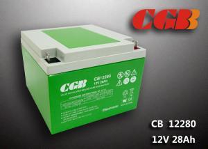 China Green ABS Plastic V0 lead Acid UPS Backup Battery 12V 28AH CB12280 9.8KG on sale