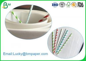 China 100% Wood Pulp 60gsm 120gsm Food Grade Straw Paper Roll With 14mm 15mm Width on sale