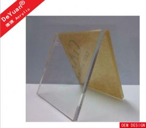 China Desktop 100% Virgin Acrylic Photo Frames Silkscreen / Engraving Logo 8mm Thickness on sale