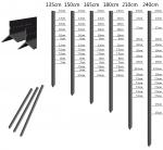 Australian/NZ Style Cheap Y posts/galvanized and Black bitumen coated Star pickets posts/ China wholesale best sales sta