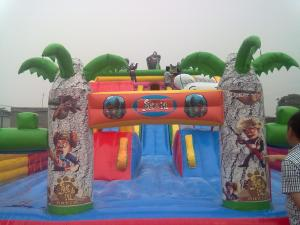 China Colorful Air Jumper Inflatable Trampoline Children'S Outdoor Inflatable Bouncers on sale