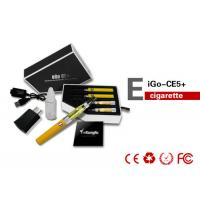 China 900mAh 14mm 2.1ML Health EGO CE5 E Cigarette With Changeable Coil on sale