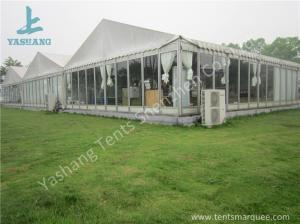 China Outdoor Transparent Glass Wall Pagoda Party Tent for DIY Shop , 12 x 18M on sale