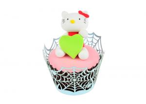 China Spiderweb Custom Acceptable Cupcake Paper Wrappers , Halloween Cupcake Wrappers on sale