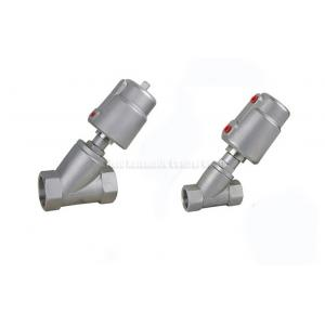 China DN10~DN80 Stainless Steel Piston Angle Seat Valve With Stainless Steel Actuator on sale