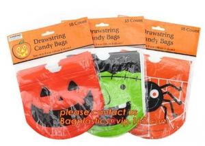 China halloween treat bags,Decoration gift tote sack halloween treat candy bag,Pumpkin & Ghost & Bat & Frankenstein & Vampire on sale