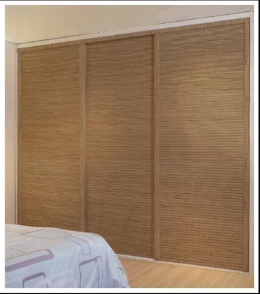 Classic Louvered Sliding Closet Doors With Aluminum Frame Wood