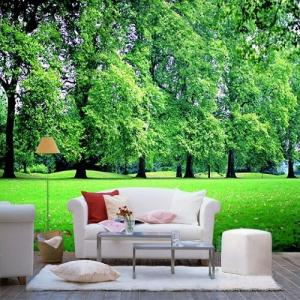 Green Fashion Custom Size Interior Decoration Wallpapers Whole Wall Decals XB04