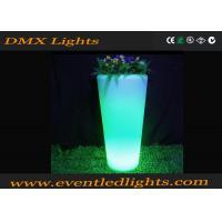Indoor colorful plastic illuminated plant pots for decoration , led plant pots