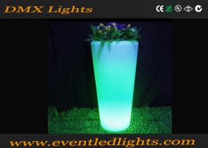 China Indoor colorful plastic illuminated plant pots for decoration , led plant pots on sale