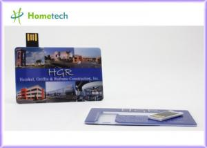 China Original Flash Memory Credit Card OEM USB Flash Drive 4GB With Writing At 7Mbps on sale