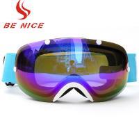 China Three Layer Foam Ski Snowboard Goggles , Womens Otg Ski Goggles FDA Certificate on sale