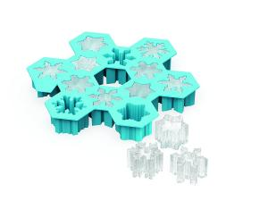 China Holiday Gift DIY Snowflake Silicone Ice Cube Tray And Mold For Candy And Soap maker on sale