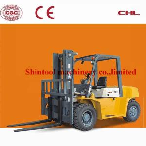 China Custom Oil Diesel Forklift Truck 4420mm Lift Height With 5.0T Banlance Weight Type on sale
