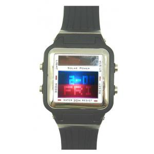 China Dual Movement Solar Powered Digital Watches Custom Chronograph Wristwatch on sale