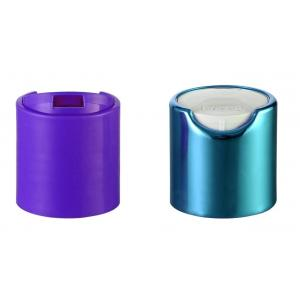 Quality 24/410 Cosmetic Disc Top Cap , Press Disc Bottle Cap With PP Inner for sale
