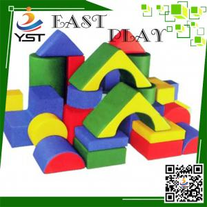 China Colorful Soft Play Sponge , Soft Baby Blocks D4605 No Toxic For Preschool on sale