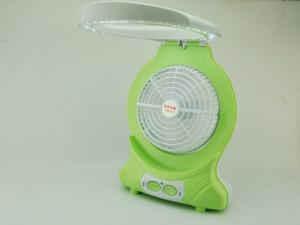 China Adjustable Speed Rechargeable Table Fan With Ligh Reading Lamp on sale