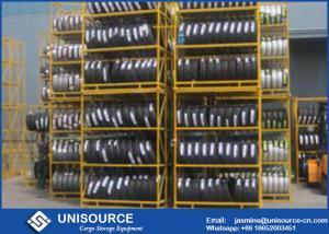 China Pallet Storage Shelves OEM , Powder Coated Steel Stacking Racks For Tyre on sale