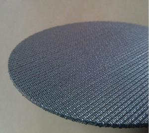 China 5 Layers Sintered Stainless Steel Filter Screen Plate High Filtering Accuracy on sale