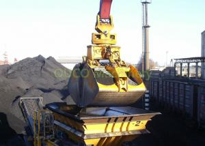 China Hydraulic Coal Clamshell Grab Bucket 9.5 T Vessel Crane Handling Equipment on sale