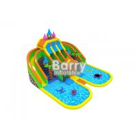 Funny castle inflatable amusement park names with pool and inflatable floating toys